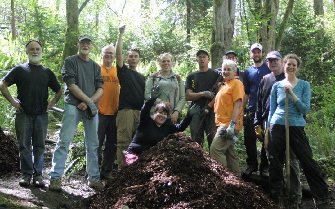 Amending Soil through Hugelkultur